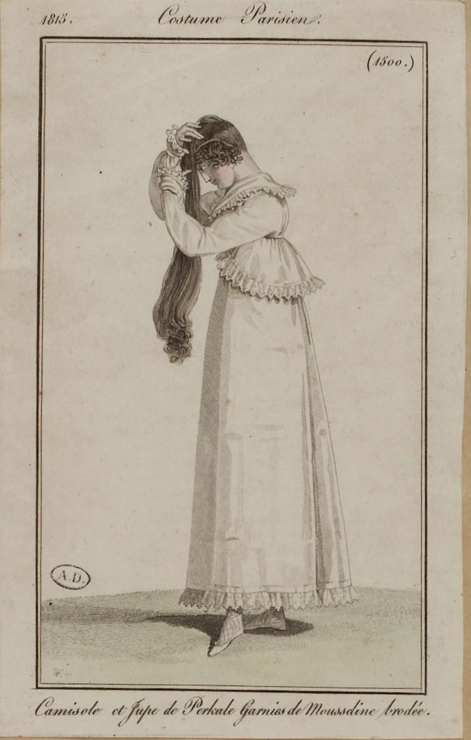 Un routine capillaire authentique de 1828