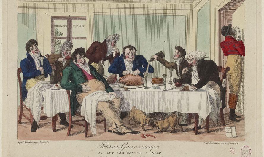 Dîner en 1825 : exemple de menu, suivi de l'étiquette et des règles de conversation
